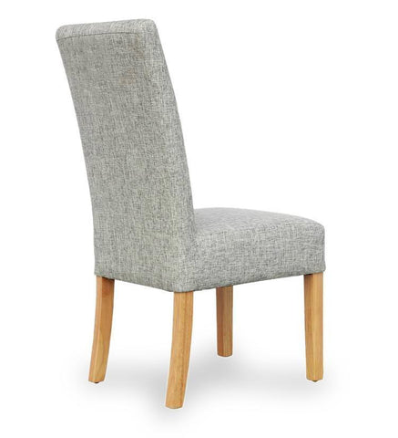 Salta Grey Weave Fabric Dining Chair-grey fabric dining chairs-shankar-GoFurn Furniture Store Kent