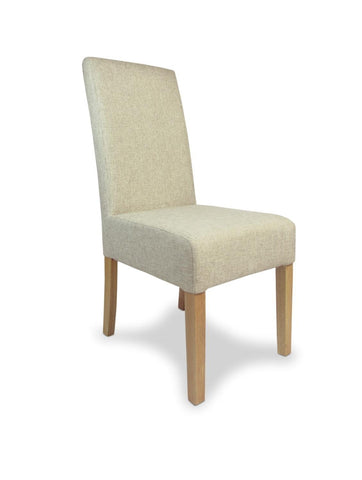 Salta Natural Fabric Dining Chair-fabric dining chairs-shankar-GoFurn Furniture Store Kent