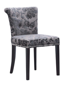 Sandringham Baroque Charcoal Accent Dining Chair-Accent Chair-shankar-GoFurn Furniture Store Kent