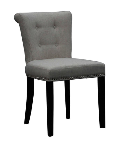 Sandringham Linen Style Grey Accent Dining Chair-Accent Chair-shankar-GoFurn Furniture Store Kent