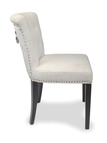 Sandringham Linen Style Natural Accent Dining Chair-Accent Chair-shankar-GoFurn Furniture Store Kent