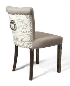 Sandringham Script Chair Whitewash legs High Back-Accent Chair contemporary-shankar-GoFurn Furniture Store Kent