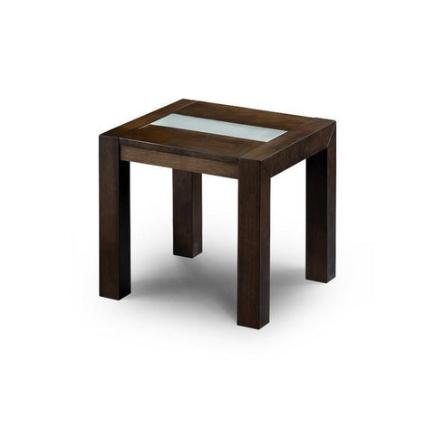 Santiago Lamp Table in Wenge Finish-lamp side Tables wenge-Julian Bowen-GoFurn Furniture Store Kent
