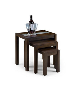Santiago Nest Tables in Wenge-nest of Tables wenge-Julian Bowen-GoFurn Furniture Store Kent