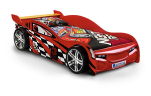 Scorpion Racer Red Lacquered Finish Bed-childrens beds-Julian Bowen-GoFurn Furniture Store Kent