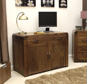 Shiro Walnut Hidden Office Computer Desk-home office desk-GoFurn-GoFurn Furniture Store Kent