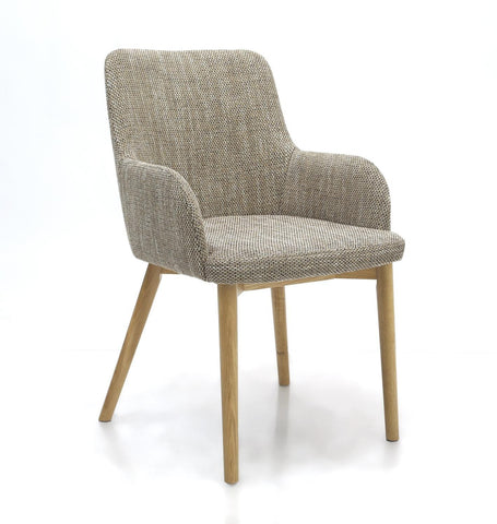 Sidcup Tweed Fabric Dining Chair-fabric dining chairs-shankar-GoFurn Furniture Store Kent