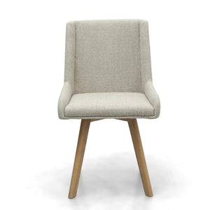 Skandi Natural Fabric Dining Chair-fabric dining chairs-shankar-GoFurn Furniture Store Kent