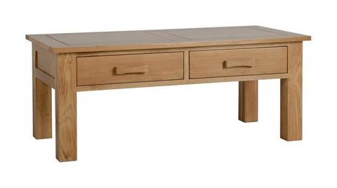 Stratford Solid Oak Coffee Table-Coffee Table-Seconique-GoFurn Furniture Store Kent