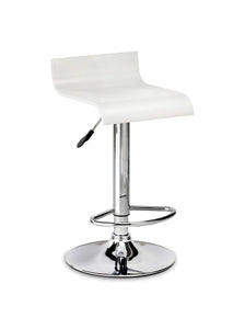 Stratos Bar Stool White Gloss-kitchen breakfast white bar stools-Julian Bowen-GoFurn Furniture Store Kent