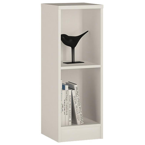 Sutton Low Narrow Bookcase in Pearl White-Bookcases-furniture to go-GoFurn Furniture Store Kent