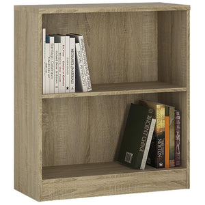Sutton Low Wide Bookcase in Sonama Oak-Bookcases-furniture to go-GoFurn Furniture Store Kent