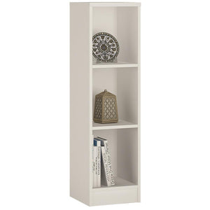 Sutton Medium Narrow Bookcase in Pearl White-Bookcases-furniture to go-GoFurn Furniture Store Kent