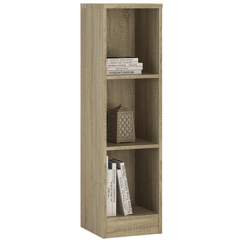 Sutton Medium Narrow Bookcase in Sonama Oak-Bookcases-furniture to go-GoFurn Furniture Store Kent