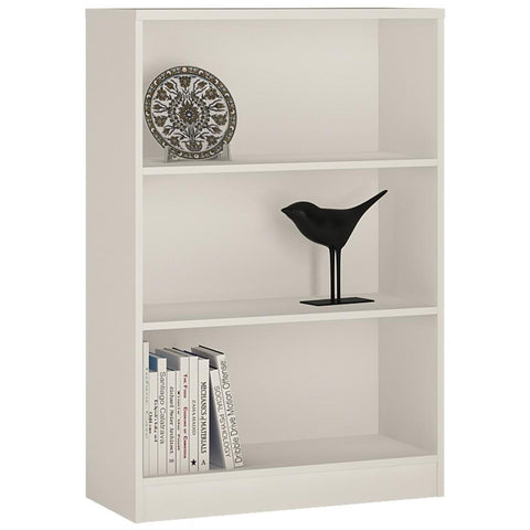 Sutton Medium Wide Bookcase in Pearl White-Bookcases-furniture to go-GoFurn Furniture Store Kent