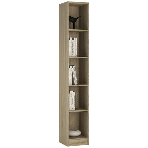 Sutton Tall Narrow Bookcase in Sonama Oak-Bookcases-furniture to go-GoFurn Furniture Store Kent