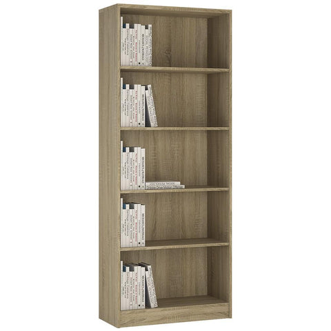 Sutton Tall Wide Bookcase in Sonama Oak-Bookcases-furniture to go-GoFurn Furniture Store Kent