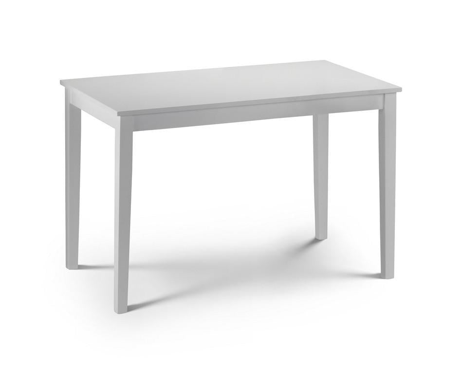 Taku White Dining Table-white dining tables-Julian Bowen-GoFurn Furniture Store Kent