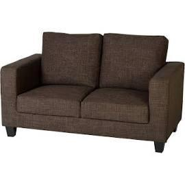 Tempo Petite Sofa 2 Seater Fabric Brown by seconique
