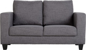 Tempo Petite Sofa 2 Seater Fabric Grey-small by seconique