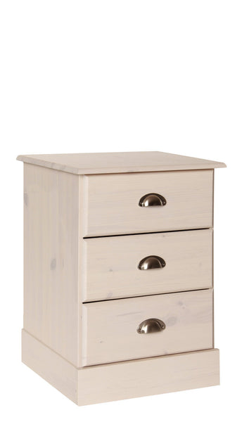 Terra 3 Drawer Bedside Cabinet-white bedside cabinets-furniture to go-GoFurn Furniture Store Kent