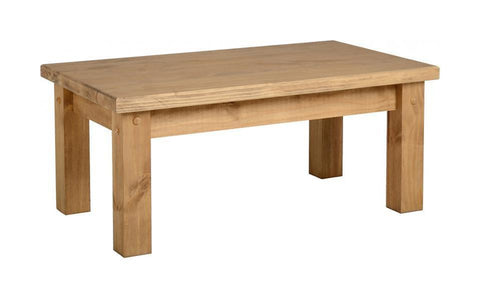 Tortilla Coffee Table-Chunky Pine from Seconique at GoFurn Furniture Store Kent