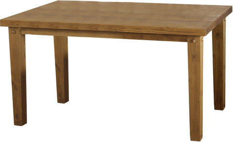 Tortilla Dining Table in Chunky Rustic Pine by Seconique at GoFurn Store in Kent