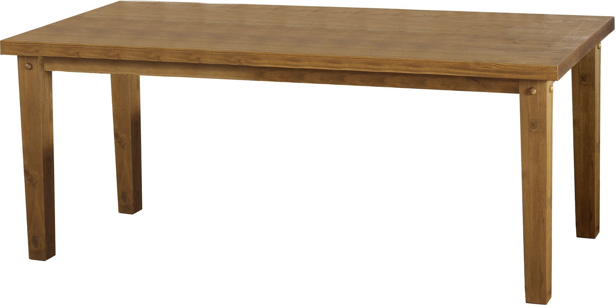 Tortilla Large Dining Table Rustic Chunky Pine at GoFurn