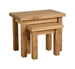 Tortilla Chunky Pine Nest of Tables by Seconique at GoFurn Kent