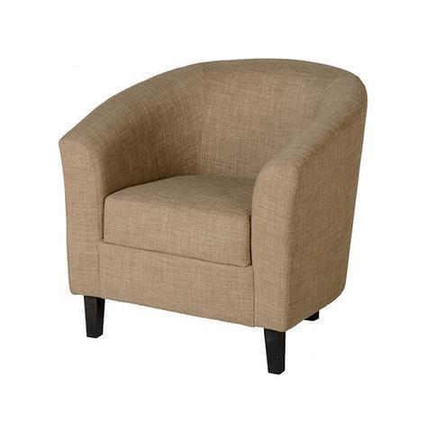 Tub Chair Tempo in Sand Fabric-Tub Chairs fabric bucket-Seconique-GoFurn Furniture Store Kent