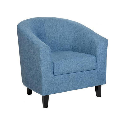 Tub Chair Tempo in Soft Blue Fabric-Tub Chairs fabric bucket-Seconique-Blue Fabric-GoFurn Furniture Store Kent
