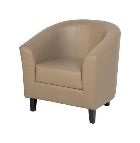 Tub Chair Tempo in Taupe-Tub Chairs leather match bucket-Seconique-GoFurn Furniture Store Kent