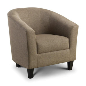Tub Chair Hugo by Julian Bowen in Mushroom Linen Fabric-Tub Chairs fabric bucket-Julian Bowen-GoFurn Furniture Store Kent