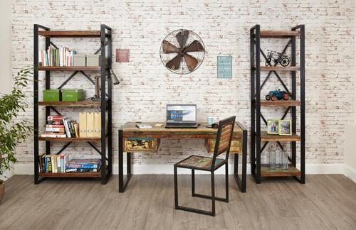 Urban Chic Alcove Bookcase-home office storage bookcase-Baumhaus-GoFurn Furniture Store Kent