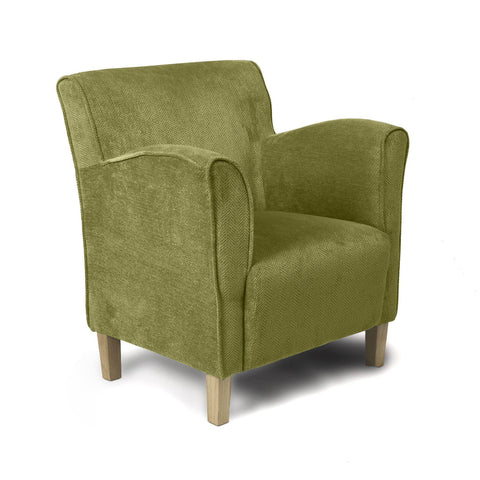 Varna Tub Chair Armchair Olive Green Fabric-tub chairs armchairs-shankar-GoFurn Furniture Store Kent