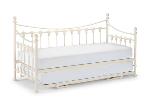 Versailles Stone White Daybed and Underbed-day guest Bed-Julian Bowen-GoFurn Furniture Store Kent