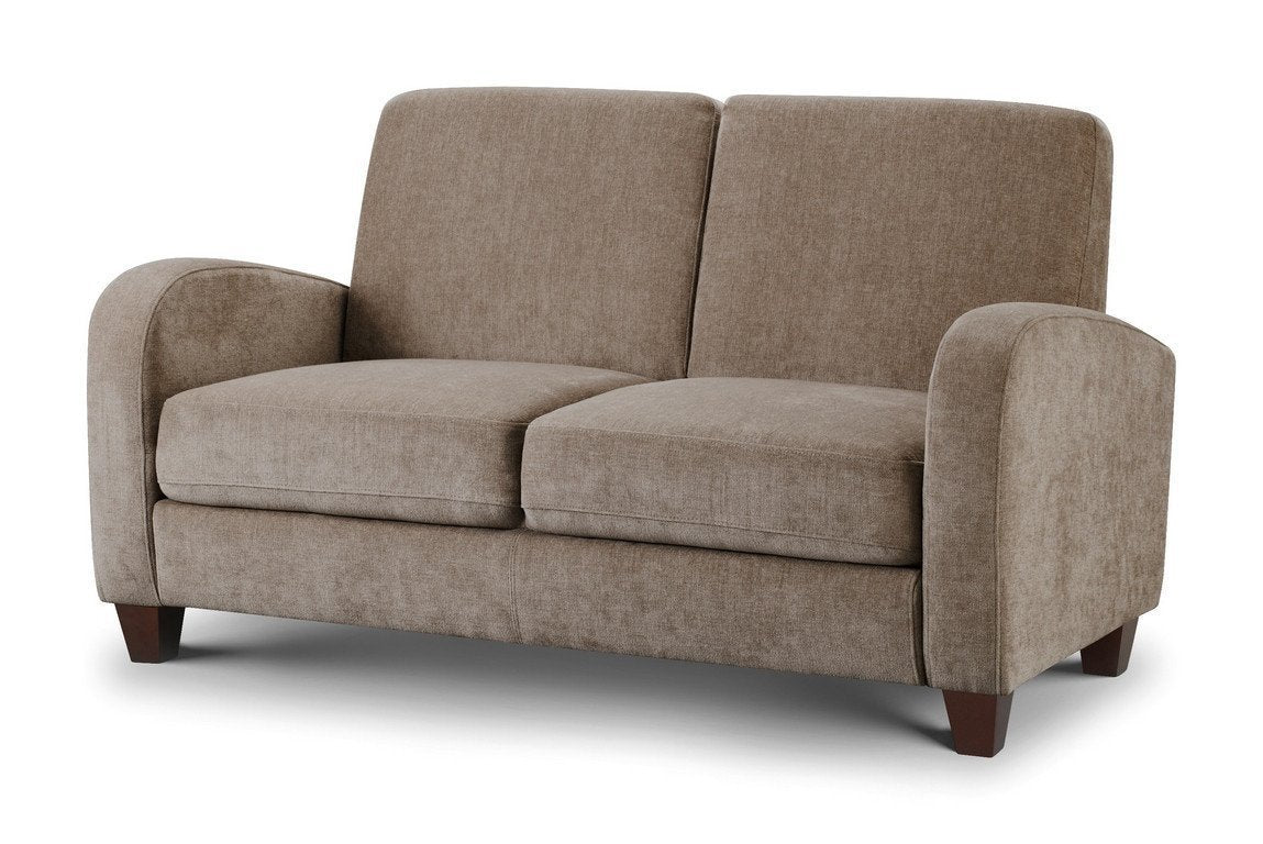 Vivo 2 two Seater Sofa Mink Chenille Fabric-Fabric Sofas-Julian Bowen-GoFurn Furniture Store Kent