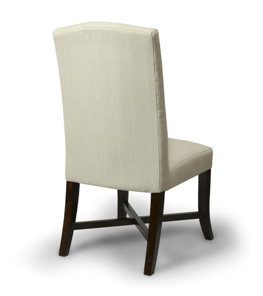 Walcott Linen Style Natural Fabric Dining Chair-fabric dining chairs-shankar-GoFurn Furniture Store Kent