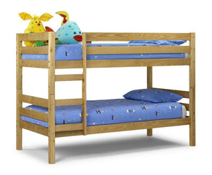 Wyoming Bunk Solid Antique Pine Bunk Bed-Bunk Beds pine-Julian Bowen-GoFurn Furniture Store Kent