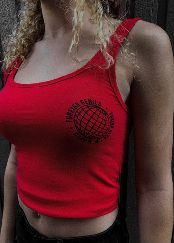 Red Taking Over The World Tank Top