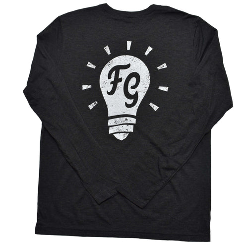 Super Soft Charcoal Long Sleeve Shirt w/ Light bulb