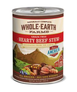 Whole Earth Farms Beef Stew Can Dog Food 12pk