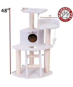 Majestic 48 Inch Bungalow Cat Furniture Tree