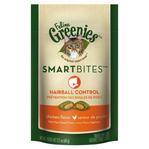 Greenies SmartBites Hairball Cat Treat 2.1oz Tuna