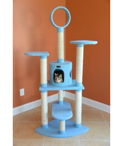 Armarkat Classic Cat Tree Model B6605 66in Blue