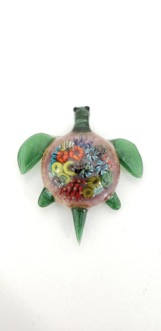 Keys Glass Turtle Reef Pendy