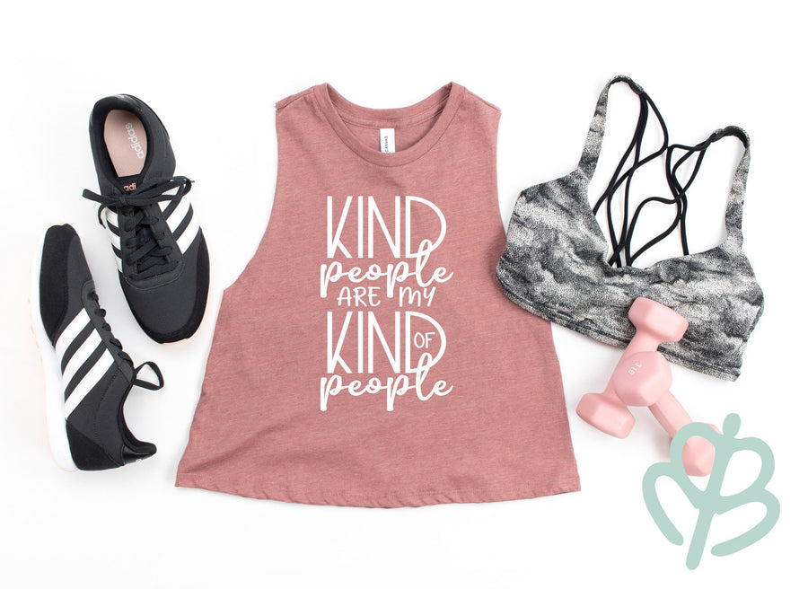 Kind People Are My Kind of People- Crop Top