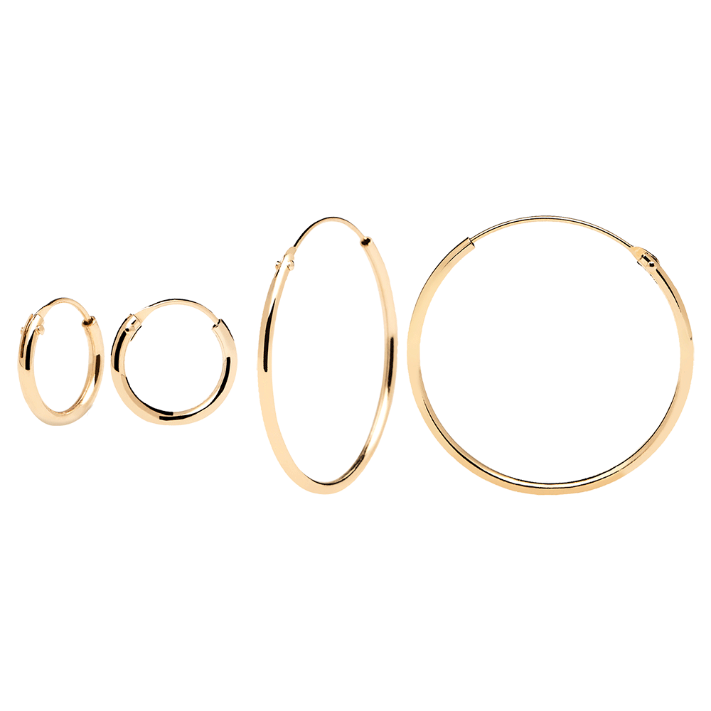 Mini&Large Gold Hoops Pack