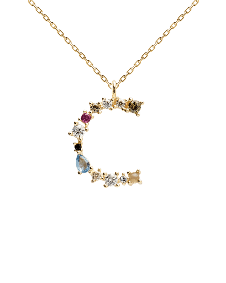 Letter Necklace - 925 Sterling Silver / 18K Gold plating