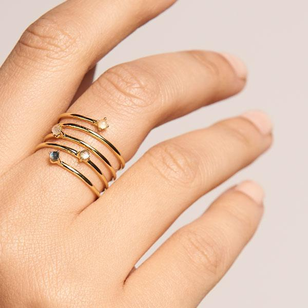 Ring - 925 Sterling Silver / 18K Gold plating